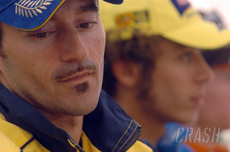 Biaggi, Rossi German MotoGP, 2004
