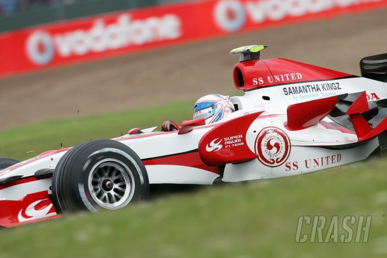 Anthony Davidson, Super Aguri F1.British Formula One Grand Prix.Silverstone, UK.July 6th-8th, 2007.