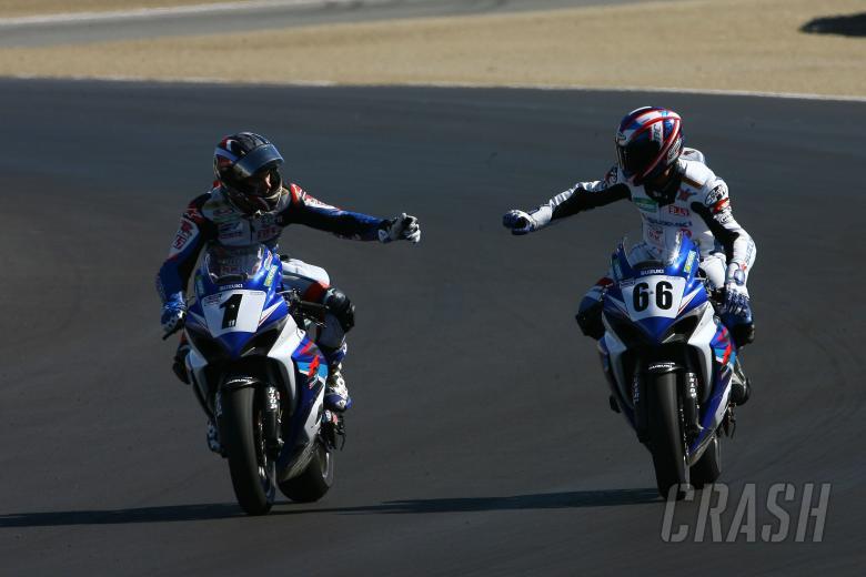 Spies and Mladin, AMA Superbike US MotoGP Race 2007