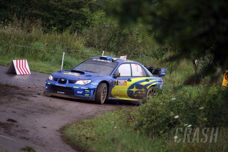 Petter Solberg (NOR) / Phil Mills (GBR), Subaru WRT Impreza WRC 2007. Rallye Deutschland, 17-19th Au