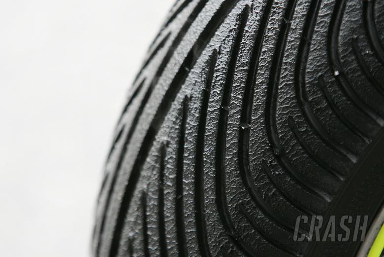 Michelin rain tyre, Czech MotoGP, 2004