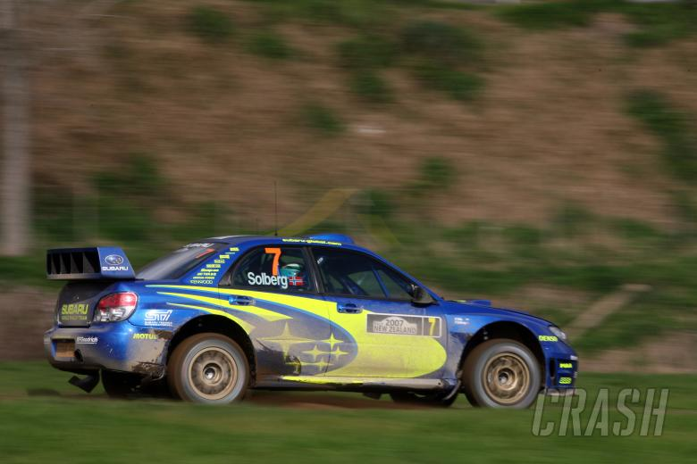 , - Petter Solberg (NOR) / Phil Mills (GBR), Subaru WRT Impreza WRC 2007. Rally New Zealand. 31st August