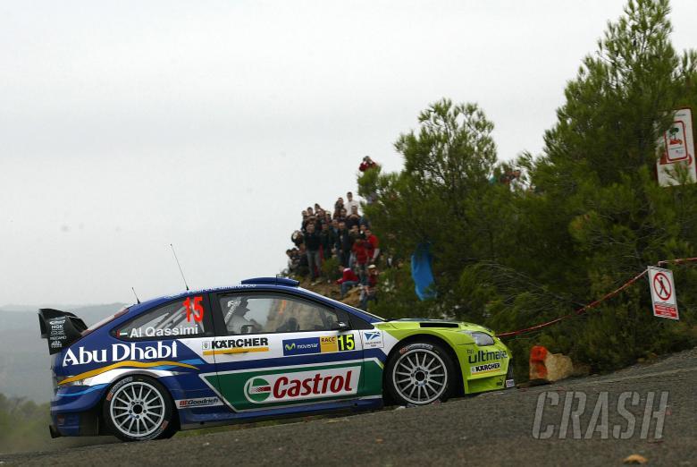 , - Khalid Al Qassimi (UAE) / Nicky Beech (GBR), BP Ford Focus RS WRC06. Rally Catalunya Costa Daurada,