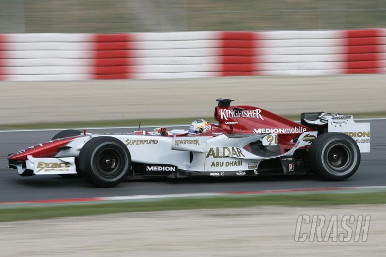 Adrian Sutil (GER) Force India F1, Barcelona F1 Test, 13-15th, November, 2007
