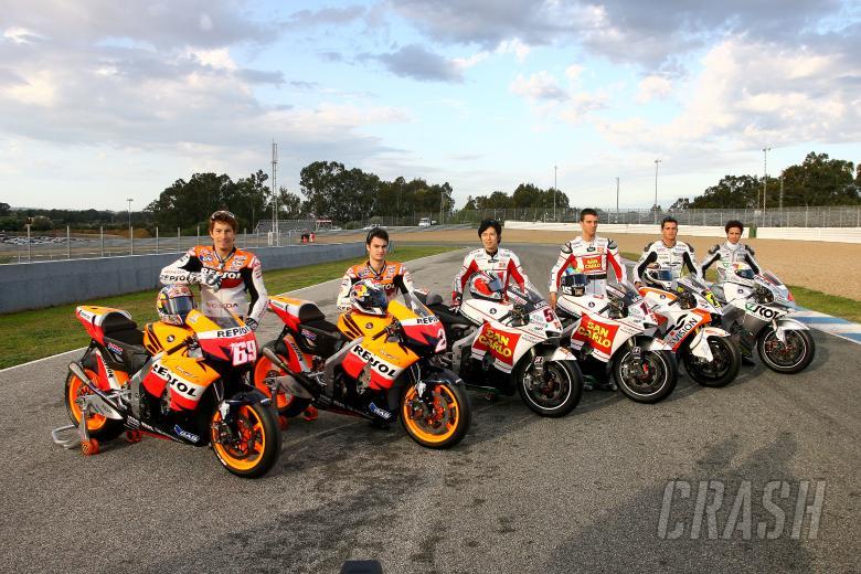 , - Hayden, Pedrosa, Nakano, DeAngeles, De Puniet, Dovizioso, Jerez MotoGP tests, February 2008