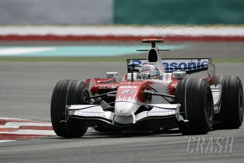 Jarno Trulli (ITA) Toyota TF108, Malaysian F1 Grand Prix, Sepang, Kuala Lumpar, 21st-23rd, March 200