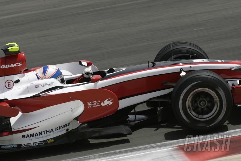 , - Anthony Davidson (GBR) Super Aguri SA08, Bahrain F1 Grand Prix, Sakhir, Bahrain, 4-6th, April, 2008