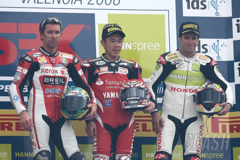Bayliss, Haga, Checa, Valencia WSBK Race 2 2008