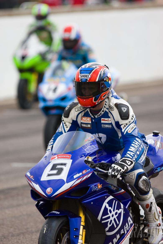 , - 5. Karl Harris RM Yamaha, Yamaha YZF R1, on the grid, race 1