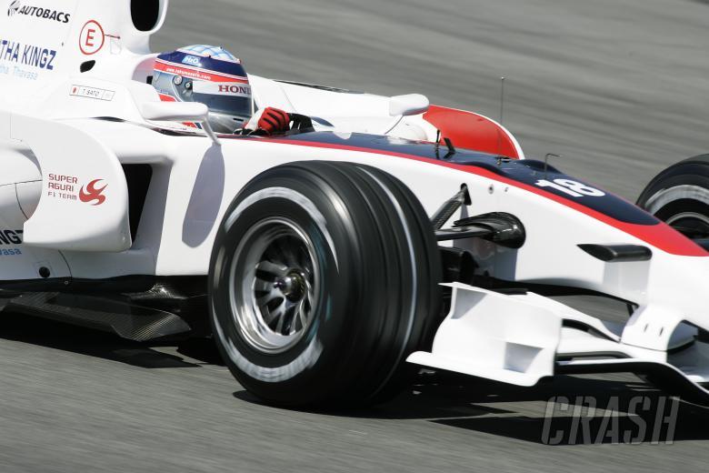 , - Takuma Sato (JPN) Super Aguri SA08, Spanish F1 Grand Prix, Catalunya, 25th-27th, April, 2008