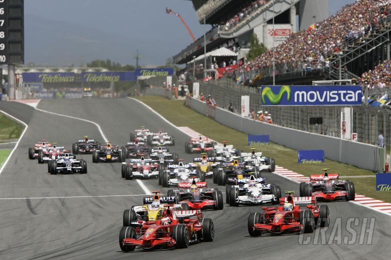 , - Start, Spanish F1 Grand Prix, Catalunya, 25th-27th, April, 2008