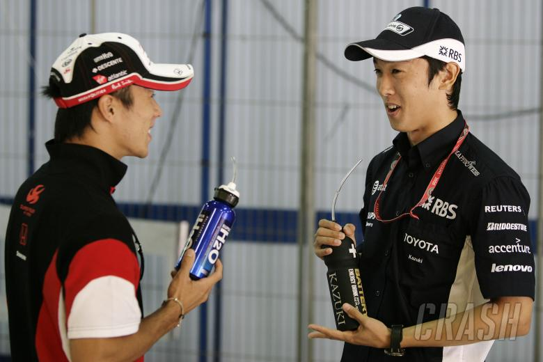 Takuma Sato (JPN) Super Aguri SA08, Kazuki Nakajima (JPN) Williams FW30, Spanish F1 Grand Prix, Cata