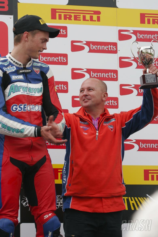 , - 2. Leon Camier Airwaves Ducati, Ducati 1098R F08 on podium