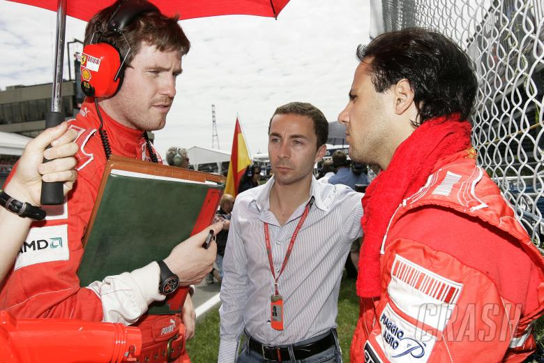Rob Smedley (GBR), Nicolas Todt (FRA), Felipe Massa (BRA) Ferrari F2008, Canadian F1 Grand Prix, Mon