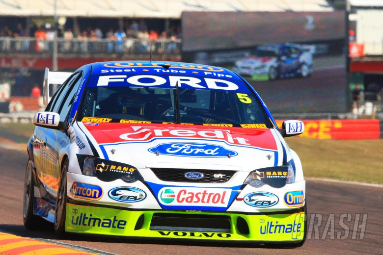 Mark Winterbottom (aust) Orrcon FPR Ford leads the championship after finishing second outrightV8 Su