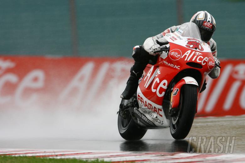 , - Guintoli slides, German MotoGP Race 2008