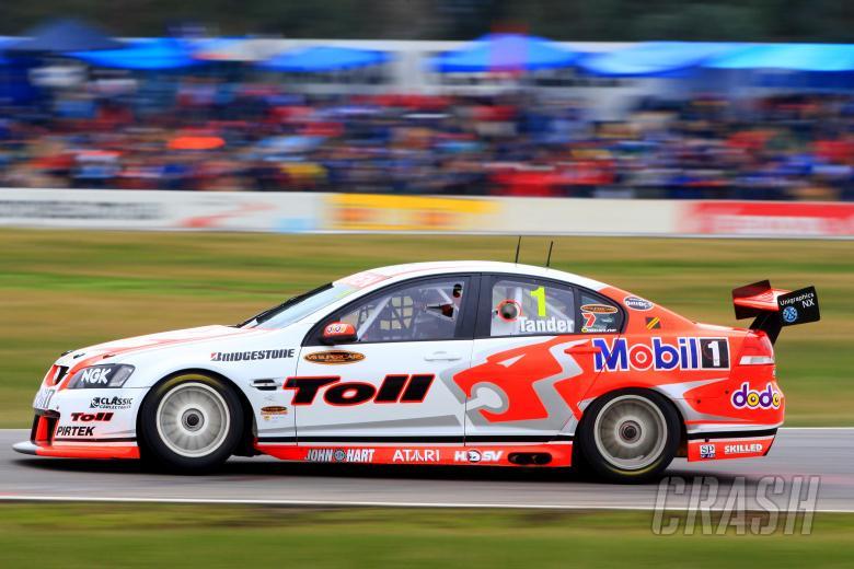 Garth Tander (aust) Toll HRT CommodoreV8 Supercars Rd 8Winton Motor racewayBenalla Vic