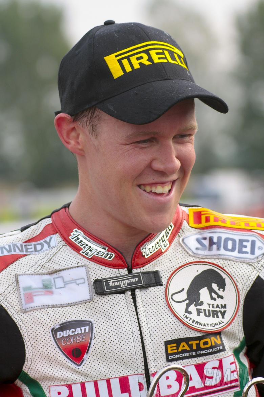 , - BSB Croft. Race 1. John Laverty 201. Buildbase NW 200 Ducati. Superbike Cup Winner.