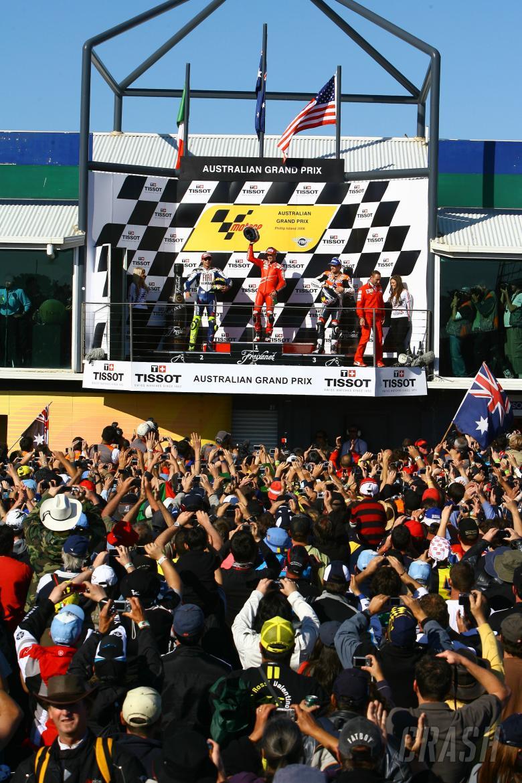 Stoner, Rossi, Hayden, Australian MotoGP 2008