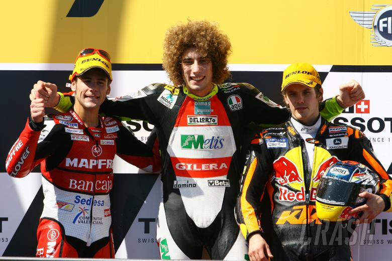 Bautista, Simoncelli and Kallio, Australian 250GP Race 2008