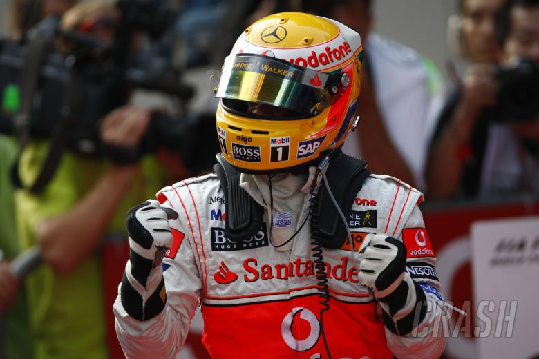 , - Lewis Hamilton (GBR) McLaren MP4-23 Gets Pole Position, Chinese F1 Grand Prix, Shanghai, 17th-19th O