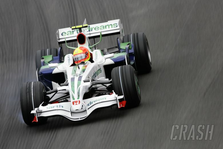 Rubens Barrichello (BRA) Honda RA108, Brazilian F1 Grand Prix, Interlagos, 30th October 2008-2nd, No