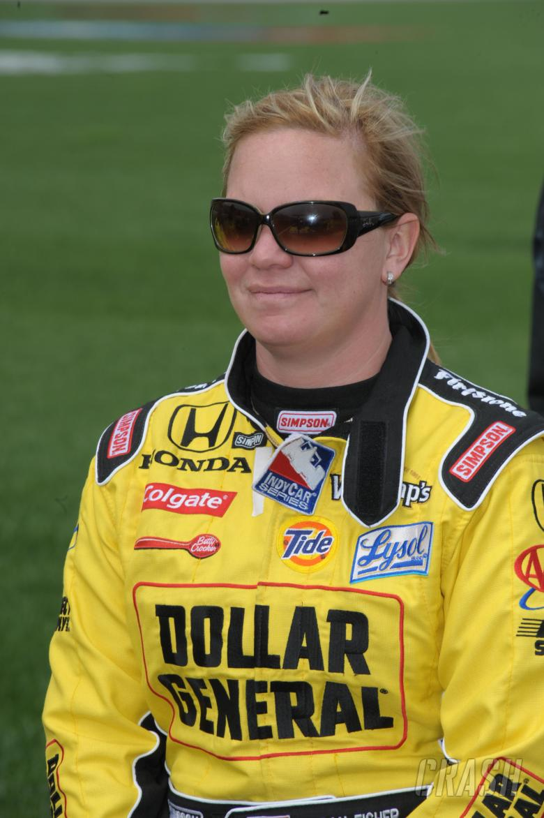 Indy Racing League. 25-26 April 2009. Kansas Speedway, Kansas, Missouri USA Sarah Fisher.