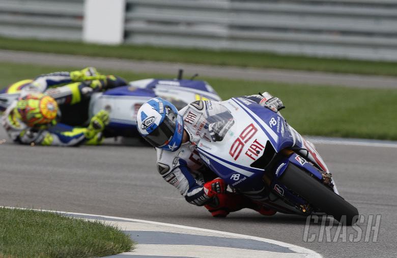 Rossi crashes behind Lorenzo, Indianapolis MotoGP 2009