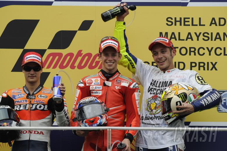 , - Pedrosa, Stoner and Rossi