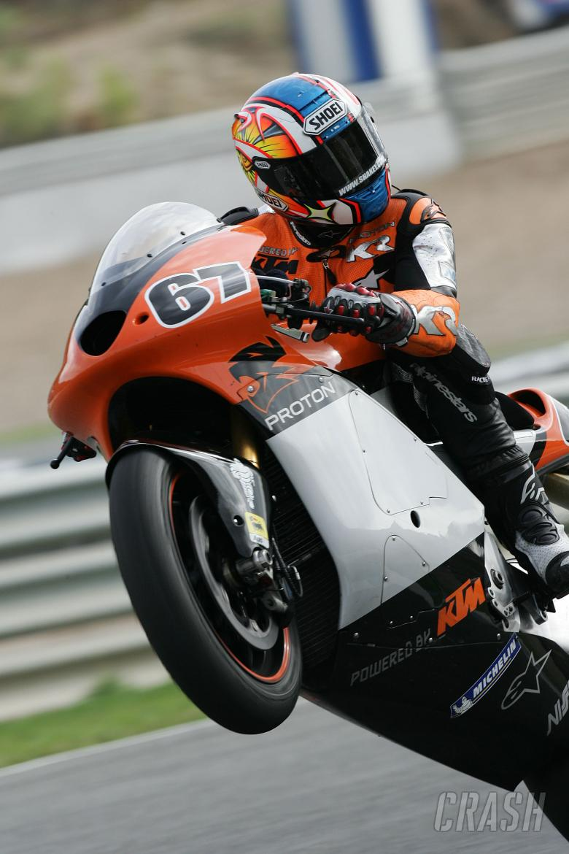 Byrne, Jerez MotoGP IRTA tests, March 2005