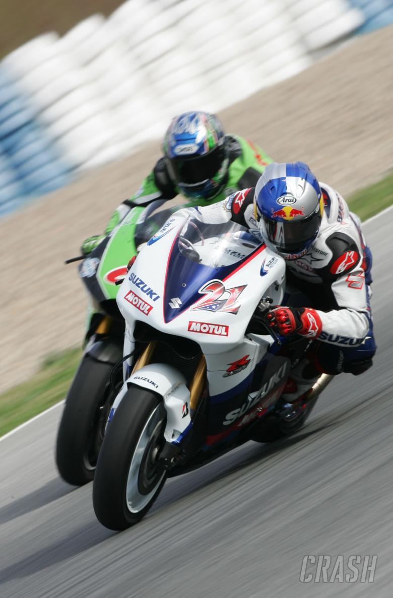 Hofmann, Hopkins, Jerez IRTA MotoGP tests, March 2005