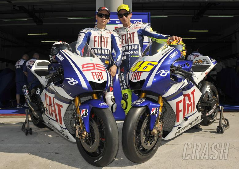 Lorenzo and Rossi, Sepang MotoGP tests, 4th-5th February, 2010