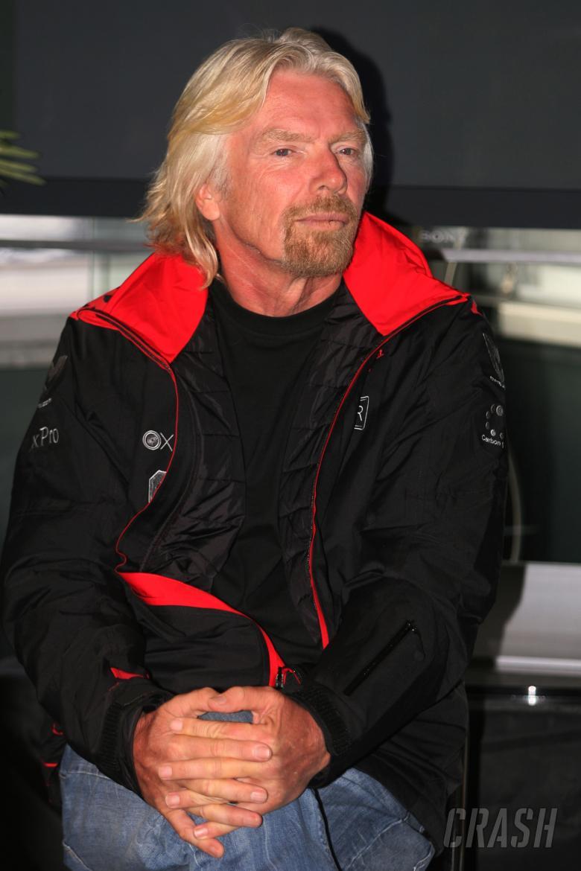 , - 27.02.2010 Barcelona, Spain, Sir Richard Branson, Chairman of the Virgin Group - Formula 1 Testing,