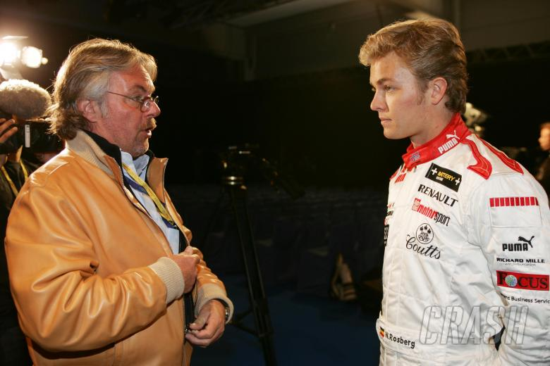 1982 F1 world champion Keke Rosberg with son Nico during the GP2 launch at Paul Ricard