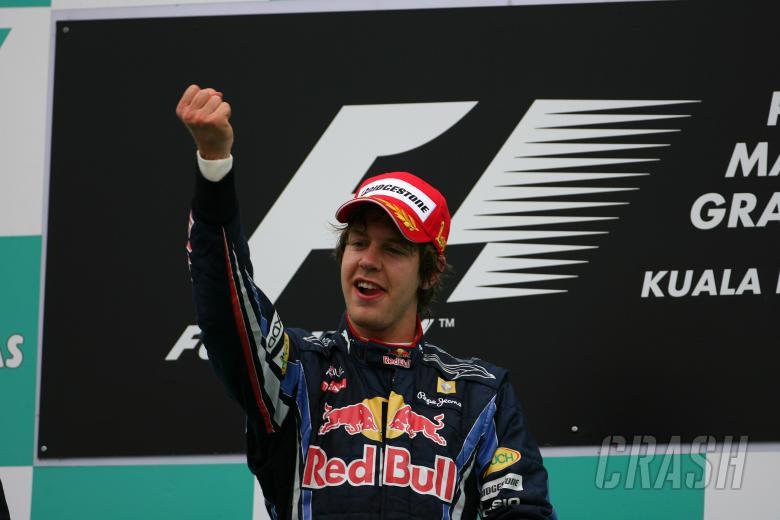 Race, Sebastian Vettel (GER), Red Bull Racing, RB6 race winner