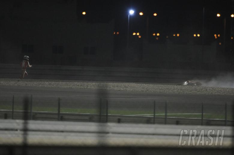 , - Stoner crash, Qatar MotoGP 2010