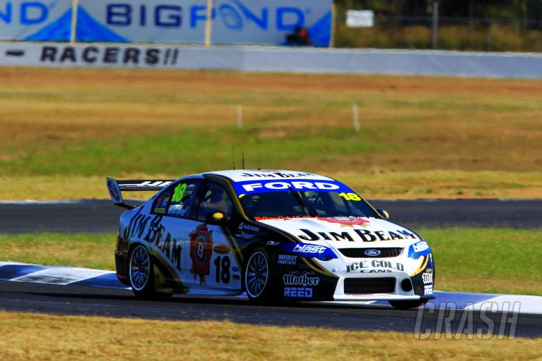 James Courtney (Aust) #18 Jim Beam DJR FG Ford Races 9 & 10 V8 Supercars Ipswich 300 Qld Raceway I