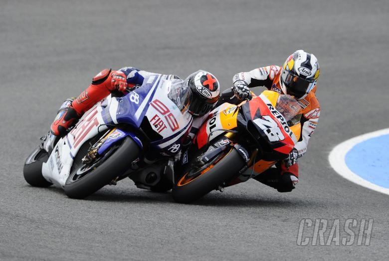 Lorenzo, Pedrosa, Spanish MotoGP Race 2010