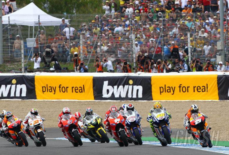 Pedrosa leads start, Spanish MotoGP, 2010