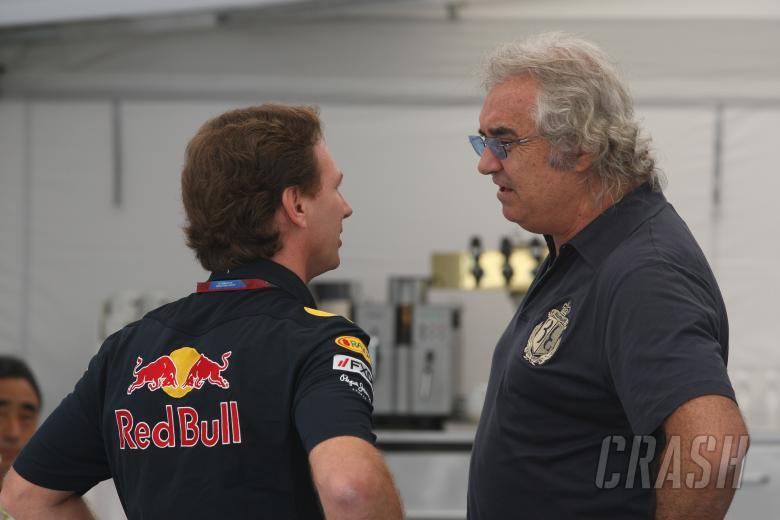 Sunday, Flavio Briatore (ITA) and Christian Horner (GBR), Red Bull Racing, Sporting Director