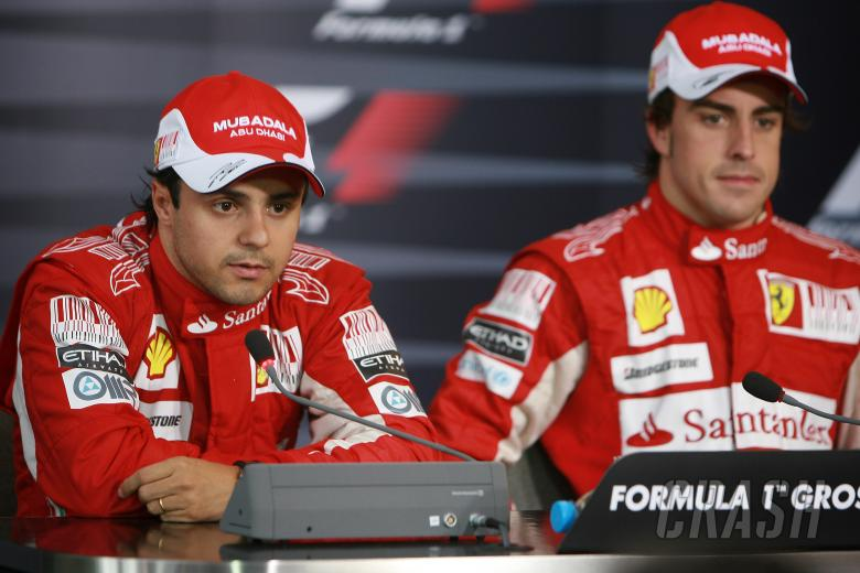 Race, Press conference, Felipe Massa (BRA), Scuderia Ferrari, F10 and Fernando Alonso (ESP), Scuderi