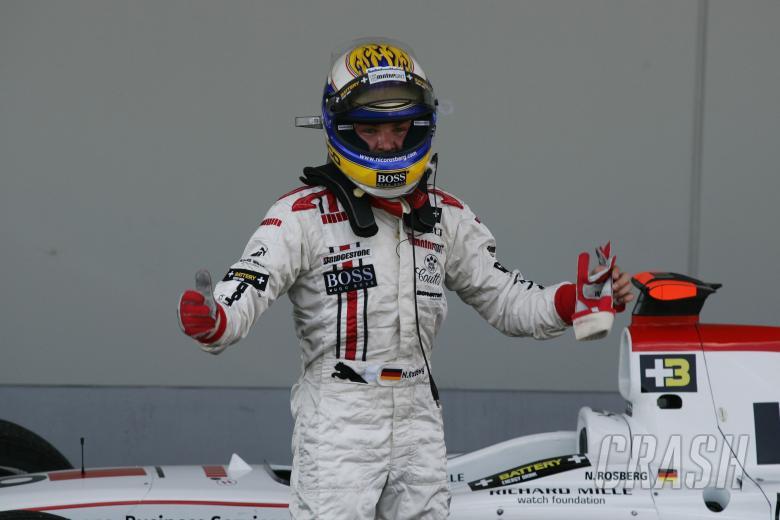 , - Nico Rosberg celebrates a battling third at the Nurburgring