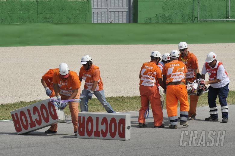 , - Tomizawa crash, San Marino Moto2 Race 2010