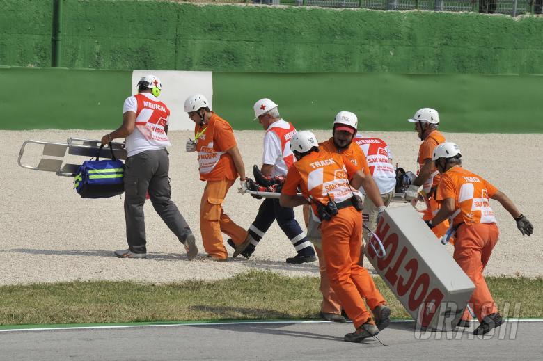Tomizawa crash, San Marino Moto2 Race 2010