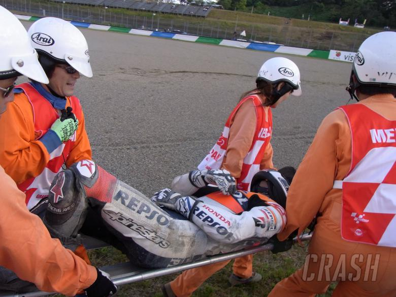 Pedrosa crash, Japanese MotoGP 2010