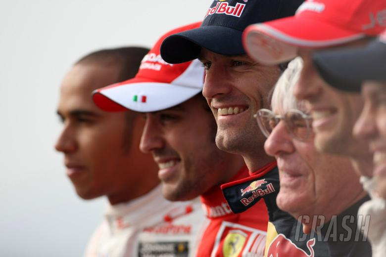 Thursday, The five Championship contenders line up for a photo: Lewis Hamilton (GBR), McLaren Merced