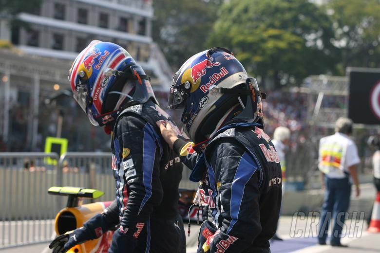 Race, Sebastian Vettel (GER), Red Bull Racing, RB6 race winner and Mark Webber (AUS), Red Bull Racin