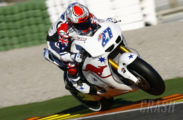 Stoner, Valencia MotoGP test, November 2010
