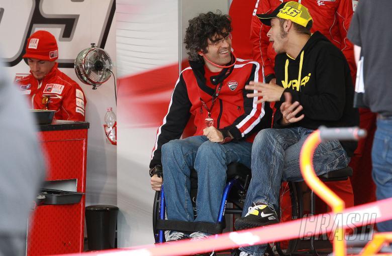 Preziosi and Rossi, Valencia MotoGP test, November 2010