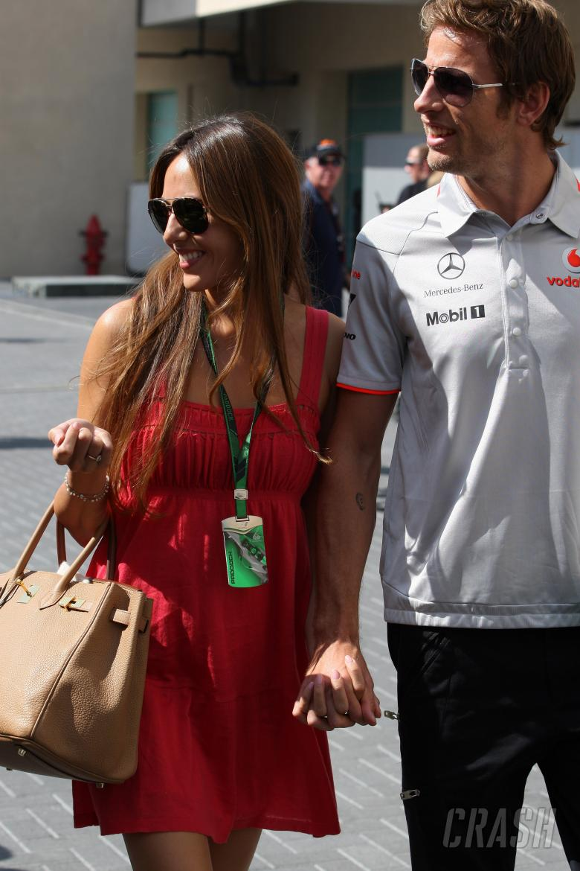 Thursday, Jenson Button (GBR), McLaren Mercedes, MP4-25 and his girlfriend Jessica Michibata (GBR),